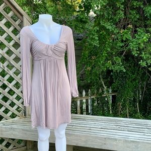 Soprano Dresses - Long sleeve grey casual dress